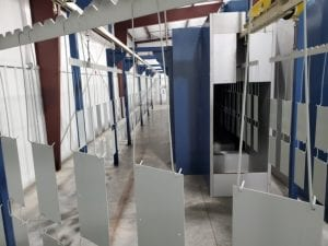 Automated powder coating process