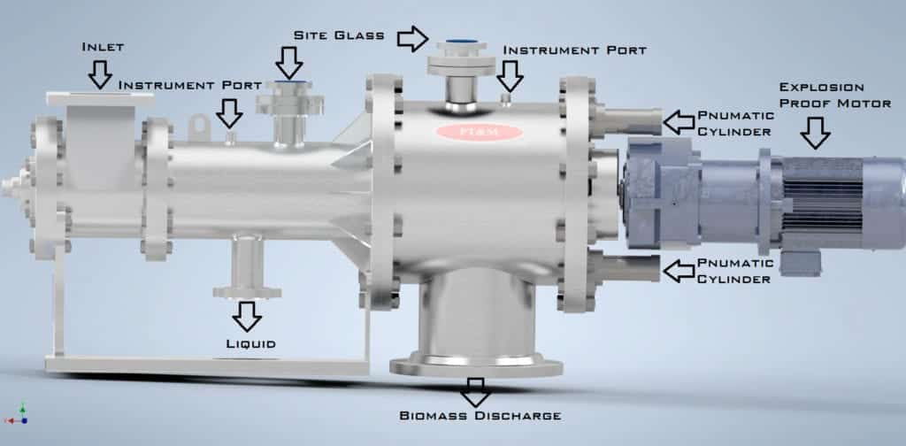 Solvent Recovery and Hemp Processing Press