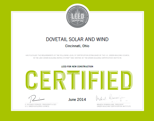 Dovetail Solar Panels and Wind Turbines