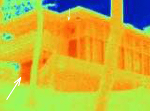 Boulter House thermal imaging photo