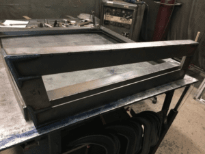 TIG welding for blast-resistant window frame