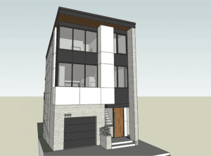 design rendering for leed gold home in cincinnati
