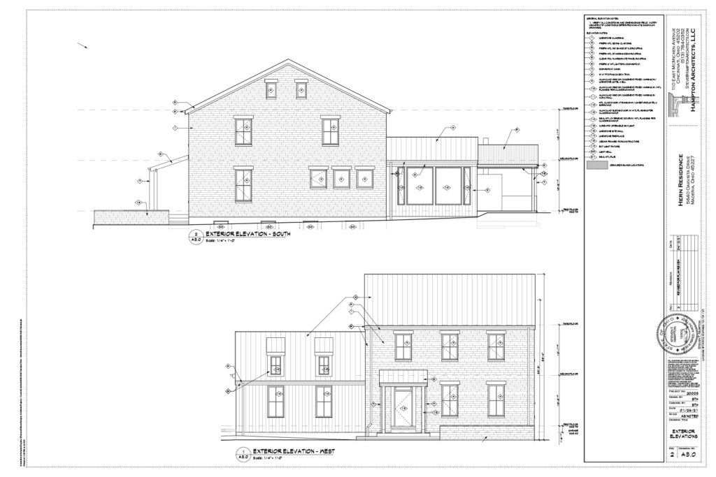 LEED Platinum New Construction in Madeira Exterior Elevations