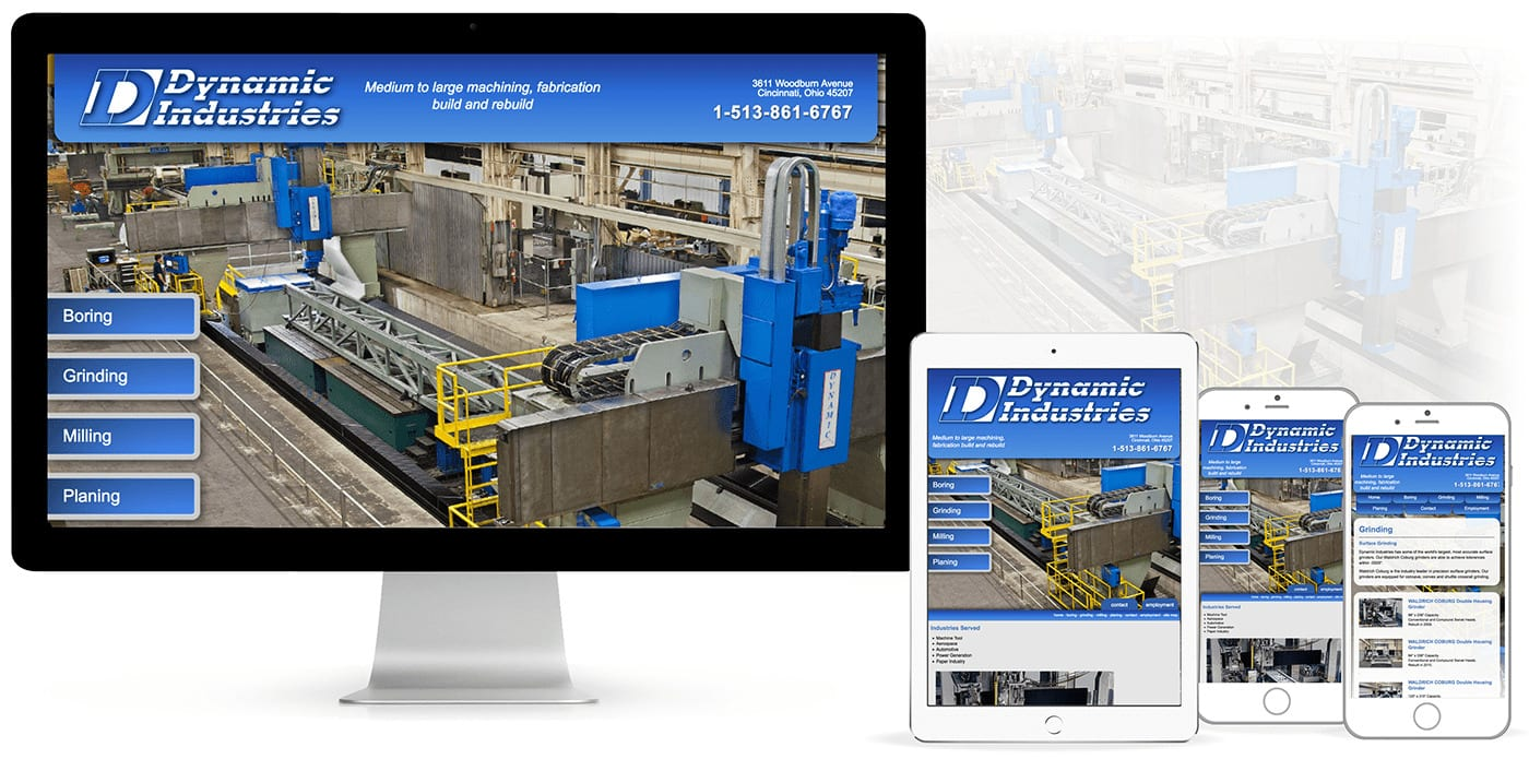 industrial Web Development for Dynamic Industries Machining