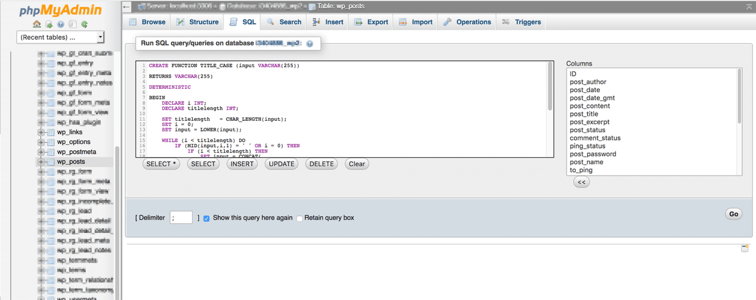 sql routine to convert to title case