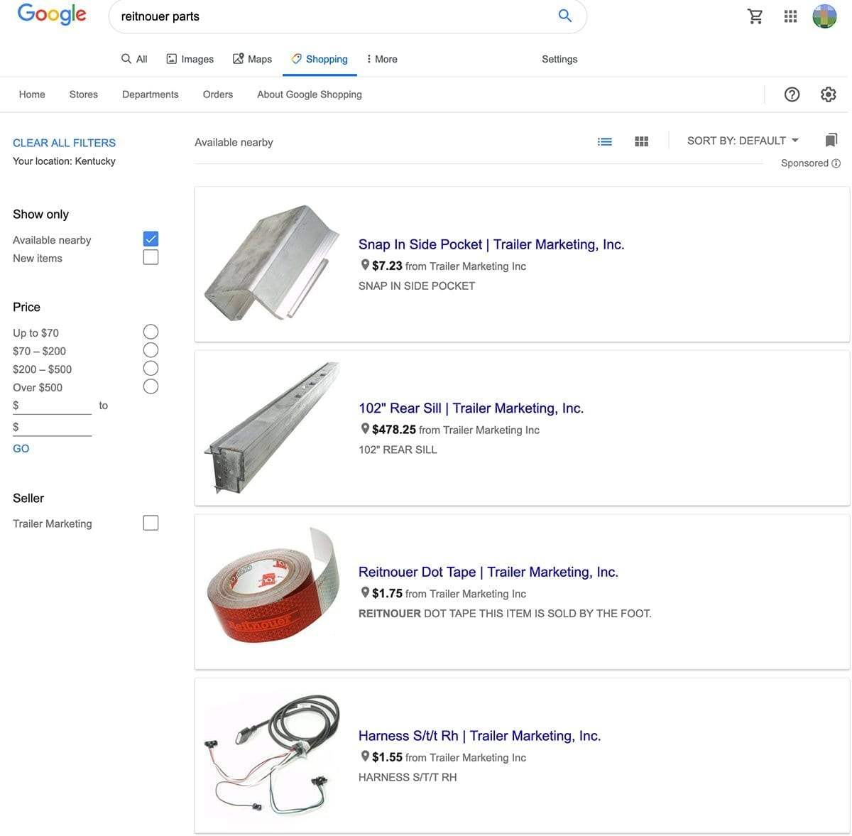 Google adwords shopping ads showing local Google Shopping Results
