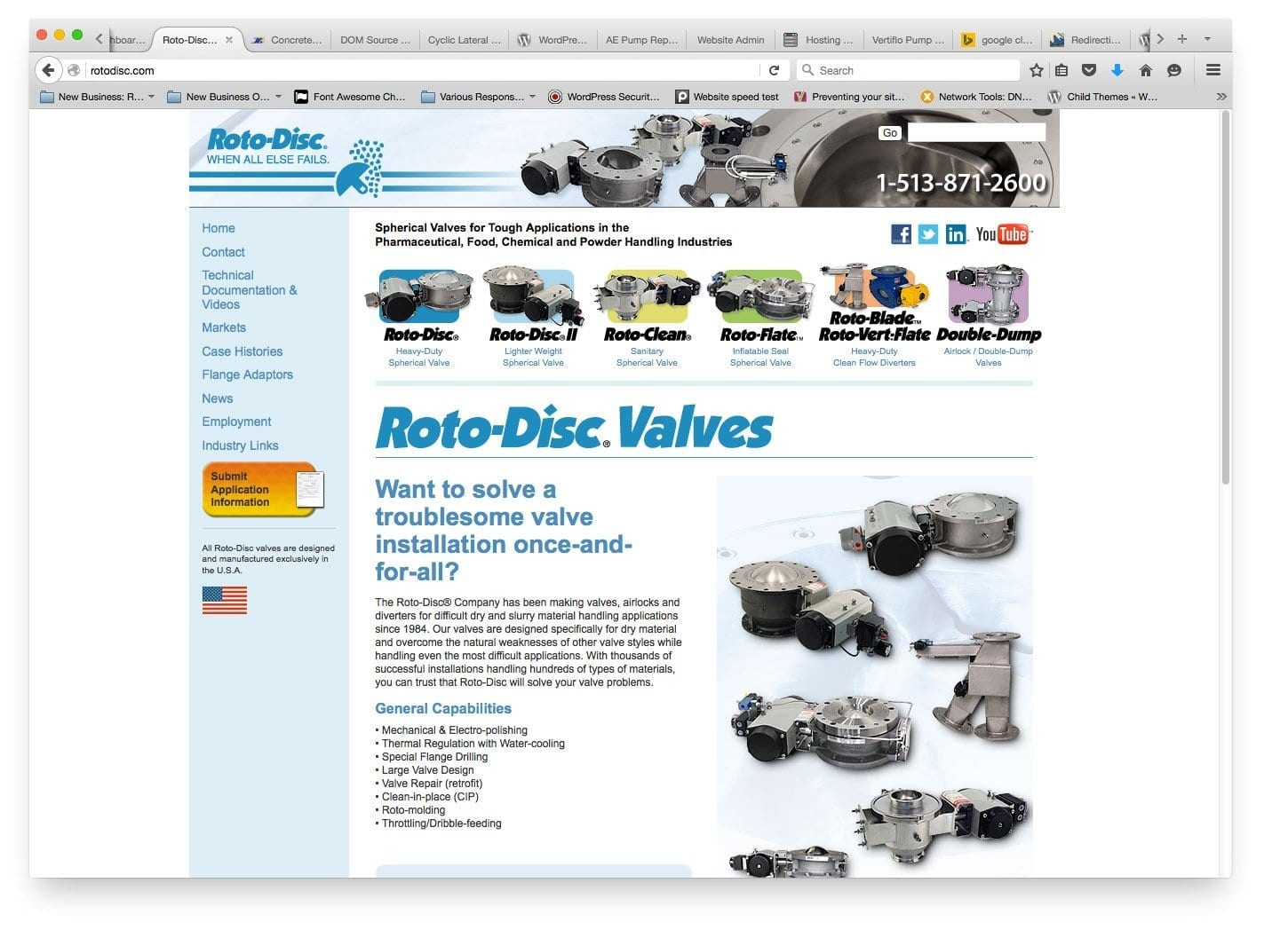 Web Design for Rotodisc Cincinnati