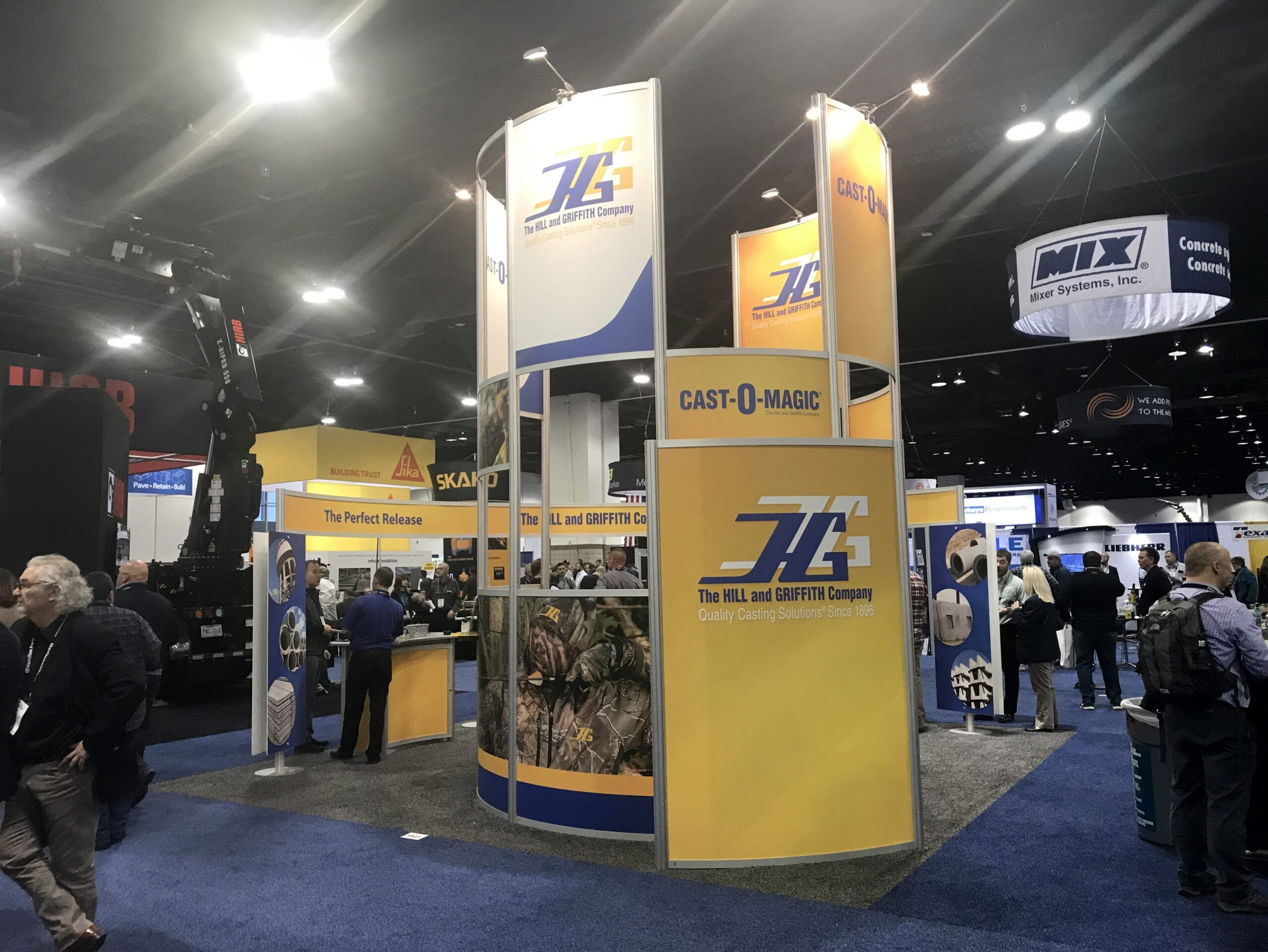 hill and griffith industrial trade show trade booth design